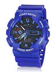 dual time elástico zonas multi-funcional unisex desportivo relógio de pulso (cores sortidas)