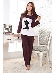 Women's Cat Print Cartoon Lounge Wear