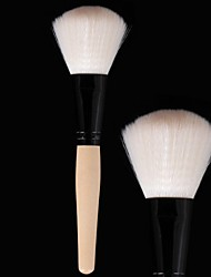 Professional Powder Brush Soft Antibacterial Fiber Anti-allergic Make Up Tool