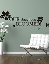 Words & Quotes Our Days Have Bloomed Decorative Wall Stickers