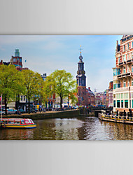 Stretched Canvas Print Art Landscape Leiden University, Holland