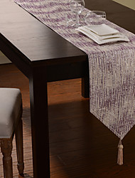 Violet service Stripe Polyester Chemin de Table