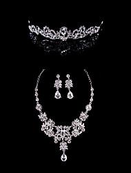 Ladies'/Women's Alloy Wedding/Party Jewelry Set With Rhinestone