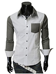 Contrasto colore camicia bianca REVERIE UOMO Uomo
