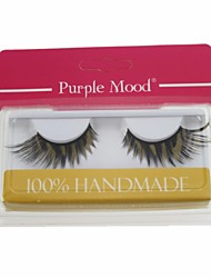 1 Pair Pro High Quality Hand Made Synthetic Fiber Hair Thick Long Colored Drawing Style False Eyelashes