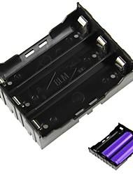 3-Slot Titulaire DIY 18650 de la batterie à broches - Noir