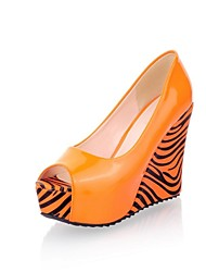 Women's Zebra Prints Wedge Platform Pumps More Colors
