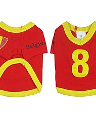 Belgium  Soccer Jersey 100% Cotton  for Pet Dog and Cats  (Assorted Sizes)