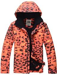 GSOU SNOW® Ski Wear Tops Men's Winter Wear Terylene Leopard Winter ClothingWaterproof / Breathable / Thermal / Warm / Windproof /