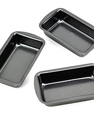 Mini-cuboid Shape Muffin Cupcake Pans and Loaf Pans, 3 Pieces per Set, Non-sticked Coated