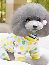 Dog Dress Red / Pink / Yellow Spring/Fall Polka Dots