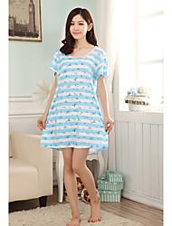 Mulheres Stripe Knit Pijamas