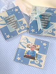 Cute Baby Blue Bear-Untersetzer, 2er-Set