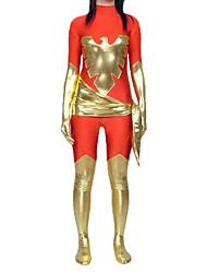 Disfraces Zentai Ninja Zentai Disfraces de Cosplay Rojo / Dorado Estampado Leotardo/Pijama Mono / Zentai Licra Spándex UnisexHalloween /