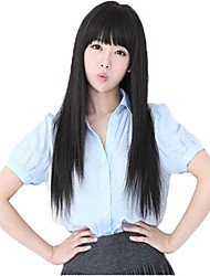 Woman Straight Lovely Long Full Bang Synthetic Wigs 3 Colors Available