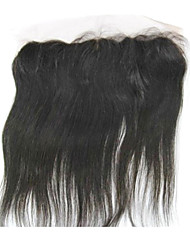 """8"""" Brazilian Hair Silky Straight Lace Frontal Closure(13""""*4"""") Natural Color"""