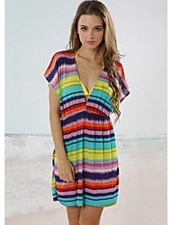 Women's Cover-Ups , Geometric Acrylic/Spandex Multi-color