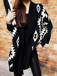 Lihome geometrische Figur Printed Fashion Pullover