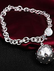Qualité douce Argent plaqué haut avec Percée Bead Charm Bracelets