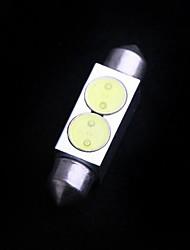 2 High Power 2W 36mm White LED Car Interior Dome Festoon Light Lamp