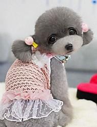 Kleider für Hunde Grün / Rosa Sommer XS / S / M / L / XL Baumwolle