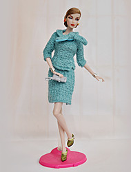 Barbie Doll Office Lady Sweater Suit