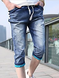 Men's Solid Casual Jeans / Shorts,Others