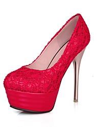 Women's Wedding Shoes Heels/Platform/Round Toe Heels Wedding/Outdoor/Dress/Casual/Party & Evening Black/Red/Beige