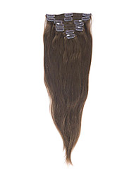 16inch 7Pcs 100% Echthaar Clip-in Hair Extensions (# 6)