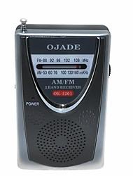 OJADE OE-1201 FM/AM Radio Receiver - Black