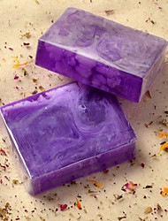 Natural Handmade Lavender Essential Oil Soap Whitening Balance Oil Secretion 100g