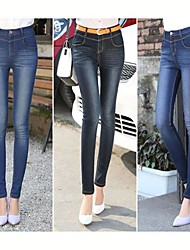 TS-Elasticity High Waist Skinny Washed Jeans