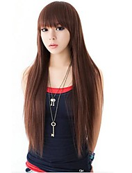 Fashion Hair Long Straight Synthetic Full Bang Wigs Heat Resistant