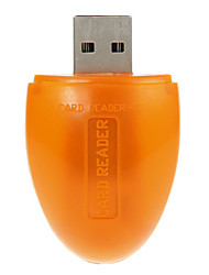Mini Mouse USB Memory Card Reader (Orange)