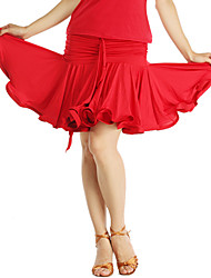 Dancewear Women's Viscose Ruffle Latin Dance Skirts(More Colors)
