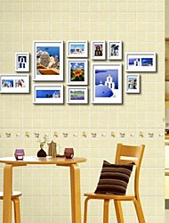Weiß Foto Wall Frame Collection Set von 12