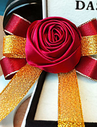 Wedding Flowers Free-form Roses Wrist Corsages Wedding / Party/ Evening Pink / Red / Purple / Burgundy Satin / Chiffon