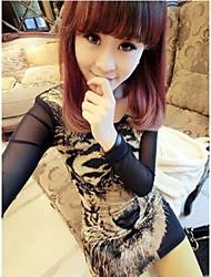 La signora coreana del modello della tigre garza vestito sexy