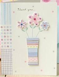 Bloemen Side Fold Dank u kaarden met Rhinestone voor Moederdag