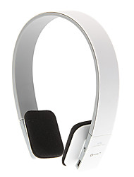 Headphone 3.5mm Bluetooth V3.0+EDR Over Ear Sports Volume Control StereoHi-Fi for iPhone/Android (White)