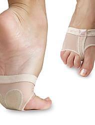 Ballet da Mulher Elástica Dança Net duplo-Hole Metade Sole Pads Acessórios