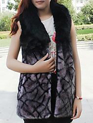 chaleco de piel con la almohadilla sin mangas en partido de piel sintética / chaleco ocasional