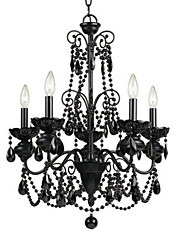 Artistic 5-Light Black Chandelier
