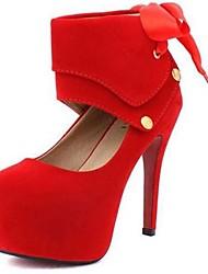 Замши женщин Свадьба стилет каблук насосы каблуки обуви (больше цветов)