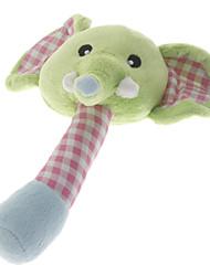 Mão-operada bonito do elefante de brinquedo Boneca com sinos para animais de Cães
