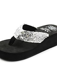 блестки платформа пятки флип-флоп сандалии Женская обувь (больше цветов)