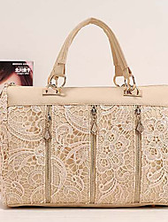 Coco Casual Sweet Lace Handbag(Almond)
