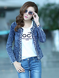 Women's Multi-color Jackets , Casual/Lace Long Sleeve