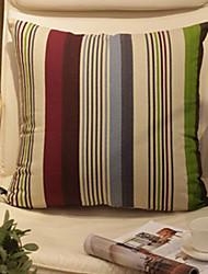 Coussin décoratif Motif de Stribed coloré avec insert