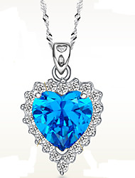 SiYue Charming Ocean Heart Pattern Copper Platinum Plated Necklace